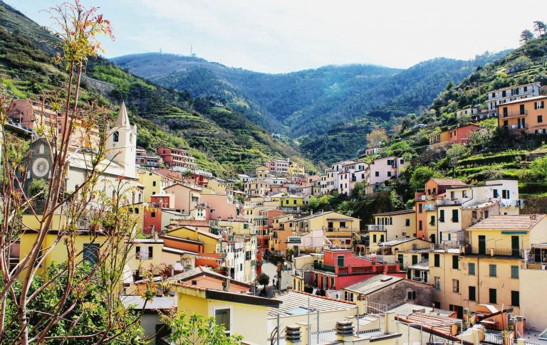 Riomaggiore, one of five villages in Cinque Terre, Italy