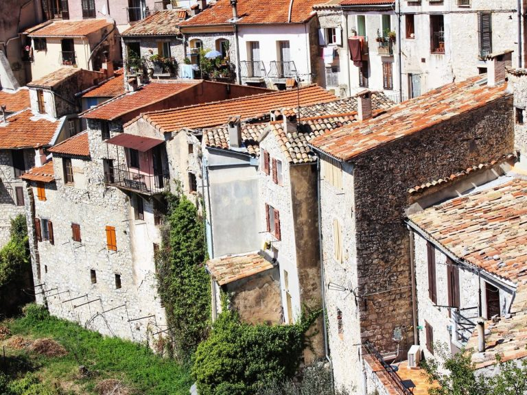 Peillon, the south of France. This village is tiny, but spectacular. You are immediately struck by the tall stone-built houses that appear to be carved out of a rock.