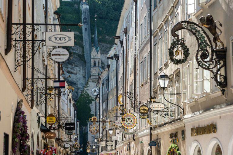 Getreidegase in Salzburg Autstria