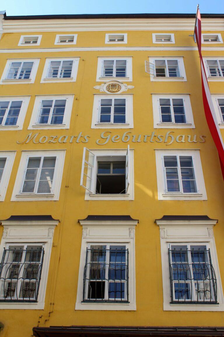 Visit the birthplace of Mozart in Salzburg Austria