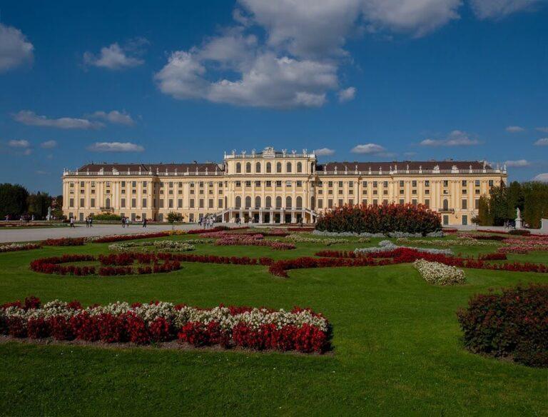 Schönbrunn Palace in Vienna Austria was declared a UNESCO World Cultural Heritage Site
