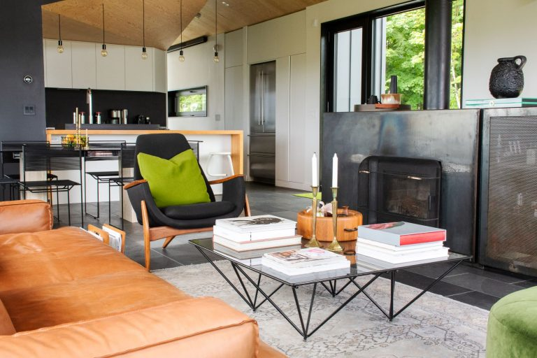 The Bolton-Est House is a luxury property rental in the Eastern Townships, Quebec, Canada