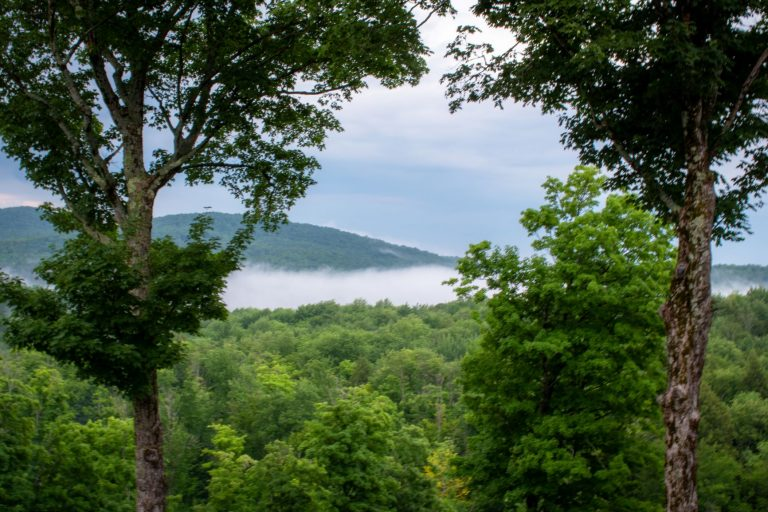 Views from luxury property stay in Eastern Townships, Quebec, Canada