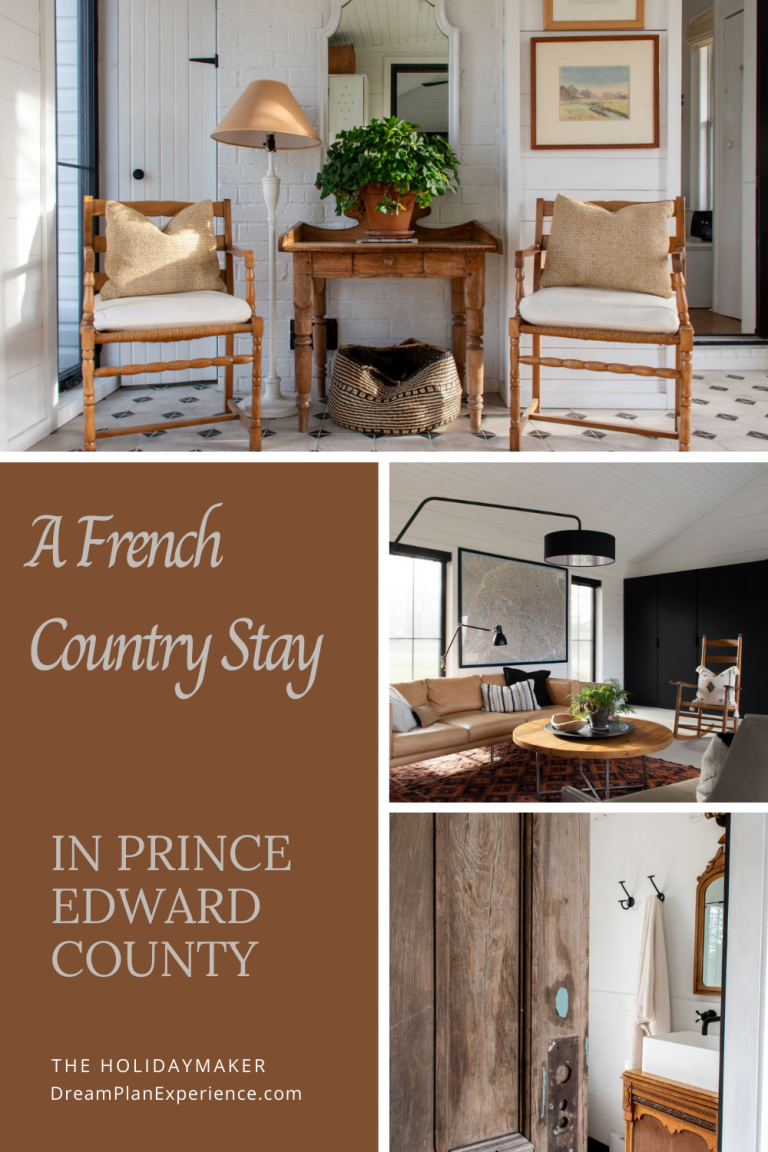Stay at this Airbnb while in Prince Edward Country, Ontario. It's a 200-year old farmhouse that you feel as though you are in the heart of Provence. #Airbnb #PEC