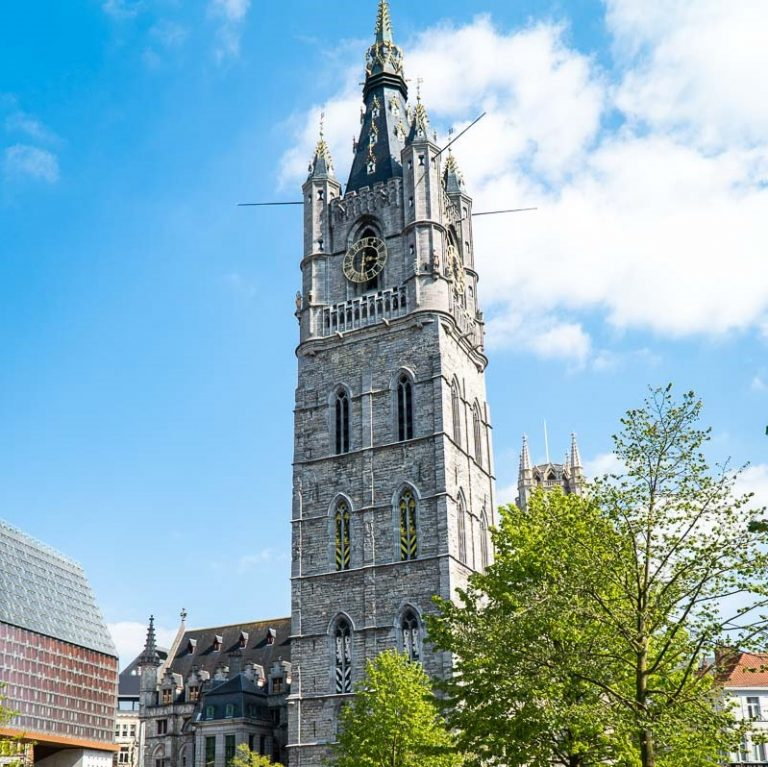 The Belfry of Ghent is one of Belgium's most beautiful bell towers.