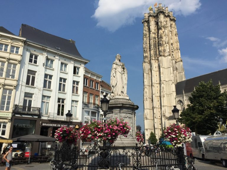 St. Rumbold's Cathedral is one of the landmarks of beautiful Mechelen in Belgium.