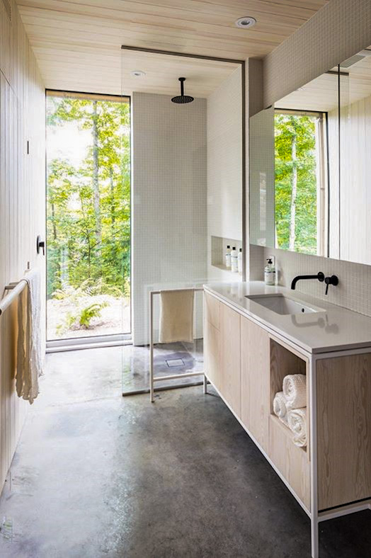 Hinter House is a peaceful retreat. It encourages all your day-to-day life to disappear leaving you with a calm relaxed feeling. | Escape to the Hinter House in The Laurentians, Canada