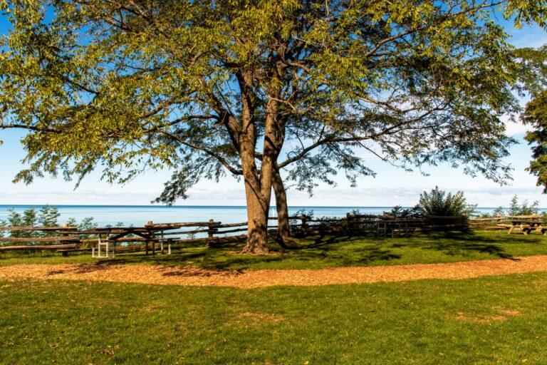 Bayfield, Ontario Pioneer's Park overlooking views of Lake Huron.