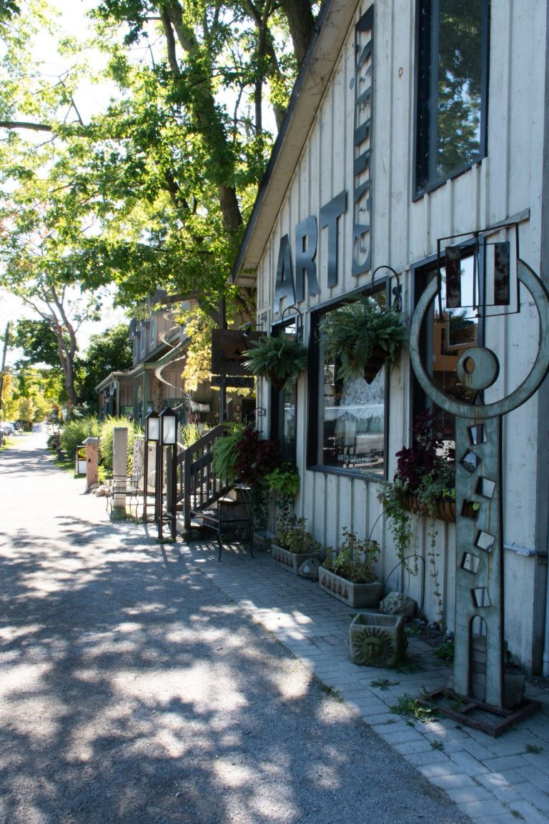 Bayfield Ontario has a charming historic downtown full of lovely shops and a thriving art community.