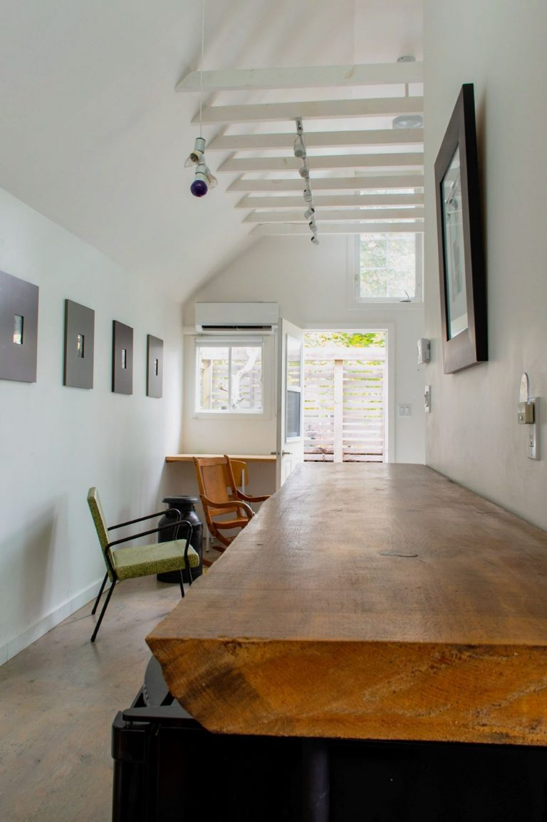 The interior space of The Coach House is a modern vintage vibe. Check out this Airbnb property in Prince Edward County