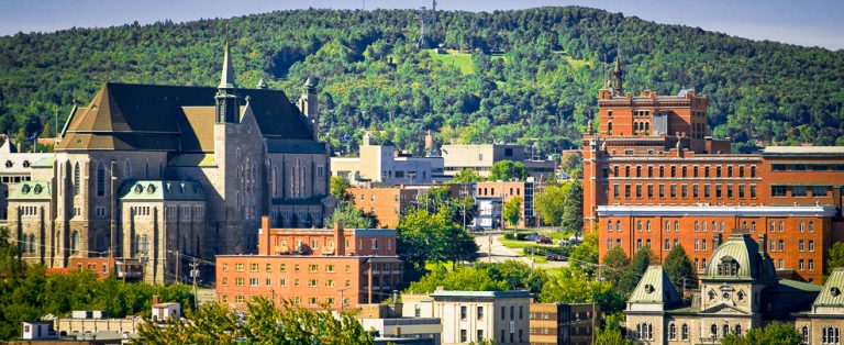 Sherbrooke Quebec, the largest city in the Eastern Townships