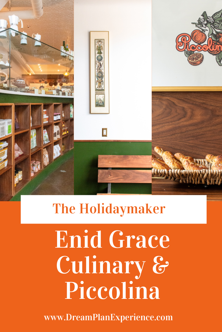 When you are in Prince Edward County, Ontario make sure you make a stop at Enid Grace Culinary & Piccolina. This stylish cafe will transport you to Italy