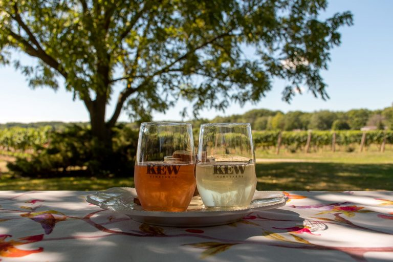 Kew Vineyards Estate Winery lies in the Beamsville Bench sub-appellation in the small town of Beamsville, Ontario, Canada | The 5 Best Dog-Friendly Wineries in the Niagara Region