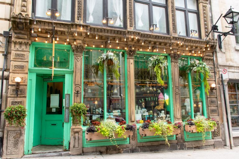 Old Montreal is full of cute shops and eateries in historic buildings.
