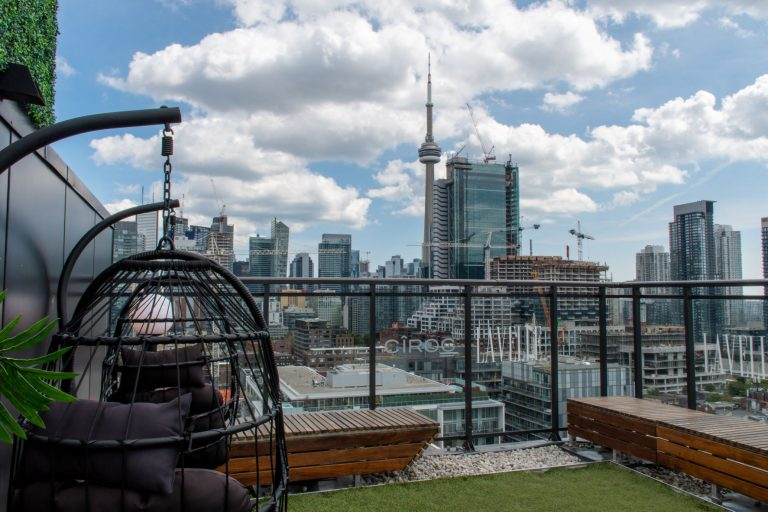Rooftop views from Toronto's hotspot for dining and lounging can be found at Lavelle. It also features one of the longest rooftop pools in North America at 155-ft.