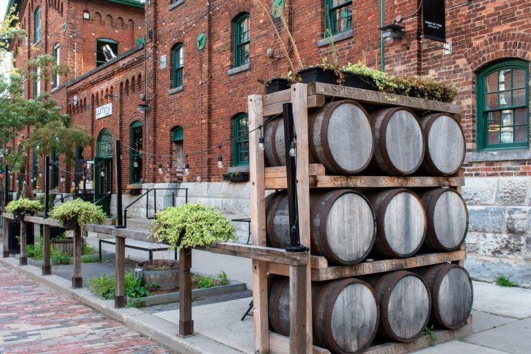 The heritage Distillery District in Toronto