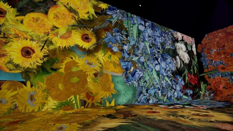 Beyond Van Gogh Immersive exhibit. It's a multimedia production, one that takes familiar images of Van Gogh's paintings and blows them up into light projections and timed to music.