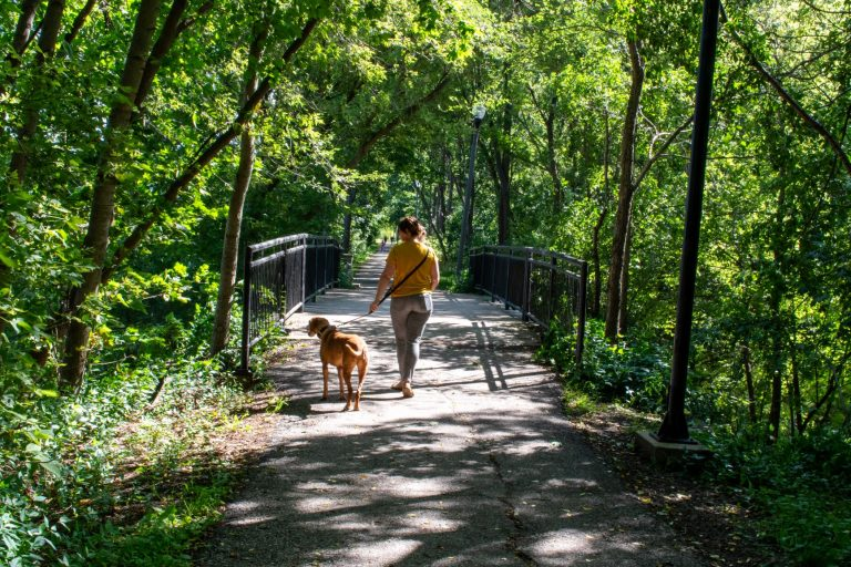 St. Marys, Ontario has more than 25-kilometres of trails for walking, running and biking. The best ones extend over the Thames River.