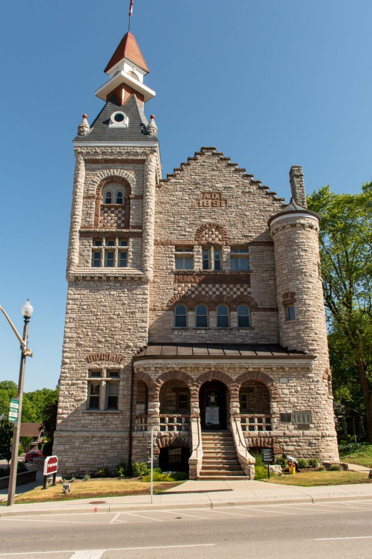The Town Hall, built in 1871, in St. Marys, Ontario, Canada