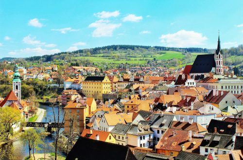 Visit the fairy tale town of Český Krumlov in Czech Republic.