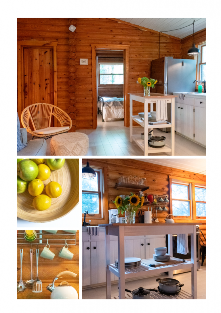 A welcoming space at Cranberry Cabins, in Haliburton, Ontario, Canada | www.dreamplanexperience.com