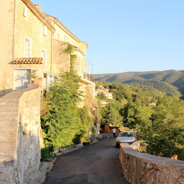 Menerbes, Provence, France. This hilltop village is surrounded by glorious uninterrupted countryside views.