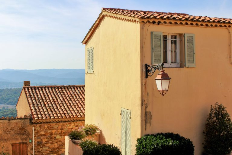 The beautiful hilltop village of Gassin. Minutes from Saint Tropez in the south of France