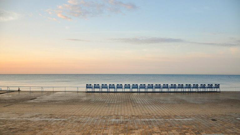 Nice (France) Promenade des Anglais - a stretch of 7 km along the Mediterranean sea