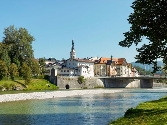 Bad Tolz, Germany a quintessential village in the German Alps full of traditional shops and with the Isar River flowing through | The Ultimate Driving Route in the German Alps