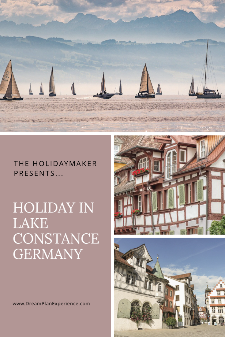 Holiday in Lake Constance, a four-country region, Germany, Austria, Switzerland and Liechtenstein