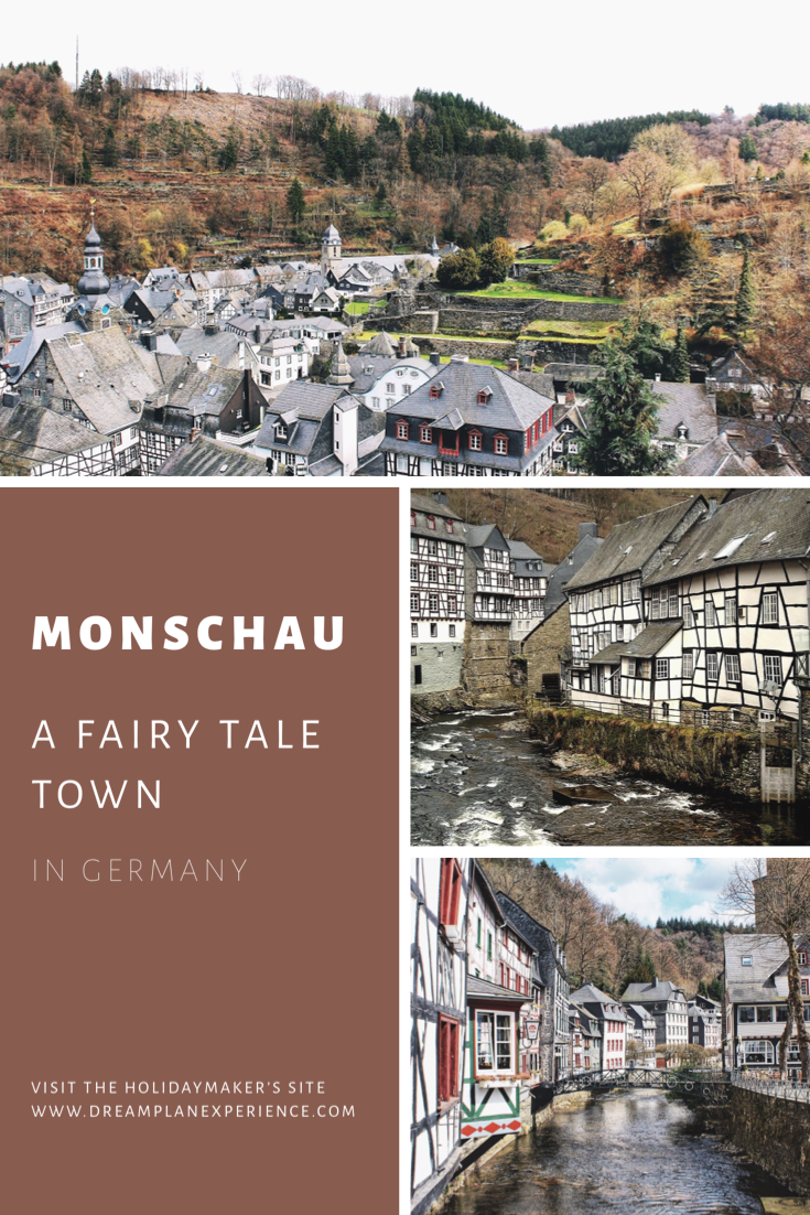 Visit Monschau a pretty fairy tale town in Germany. It lies on the border of Belgium.