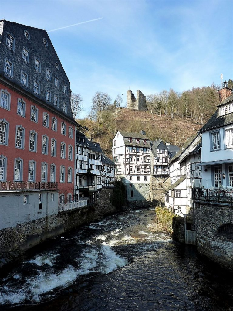 Red House in Monschau, Germany. A historic building in this fairytale-esque town.