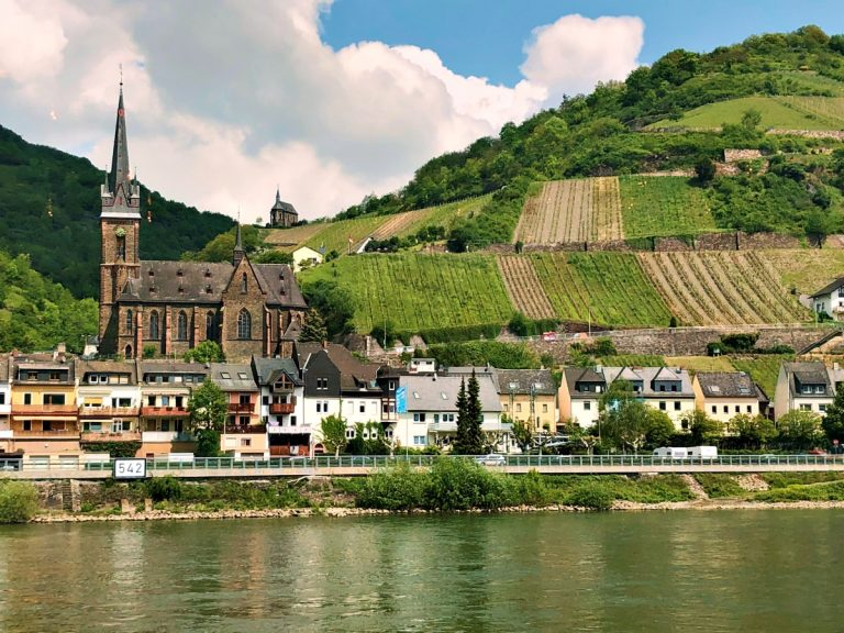 The beautiful Rhine Valley in Germany is an UNESCO World Heritage Site