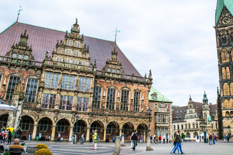 The Town Hall and Square in Bremen Germany are UNESCO World Heritage sites