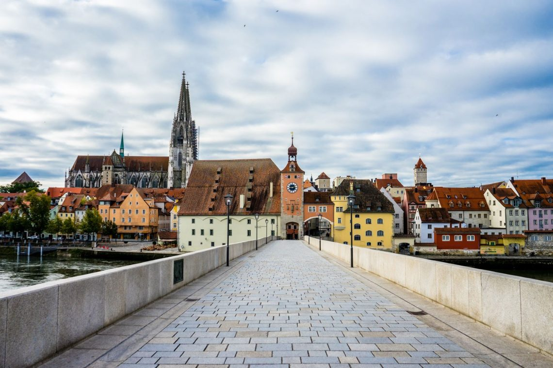 The historic old town of Regensburg Germany is a UNESCO World Heritage site