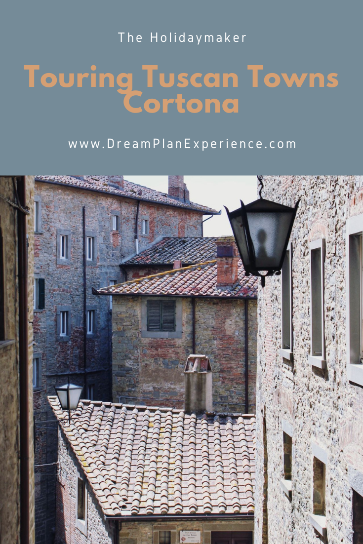 Visit Cortona, a hilltop town in Tuscany. This historic old town has a lot of interesting history in Italy.