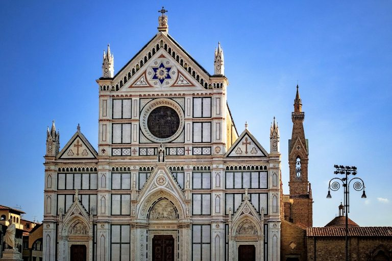 The Basilica of Santa Croce in Florence Italy