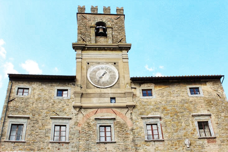 The main piazza in Cortona, a small town in Tuscany, Italy