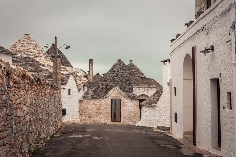 The town of Alberobello in Itria Valley, Italy's so-called trulli zone.