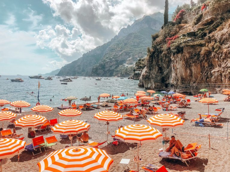 The Amalfi Coast is a beautiful coastline in Southern Italy stretching 34 miles and has over 100 beaches dating back to the 1st century AD