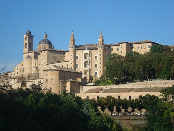 Urbino sits in the central region of Marche, Italy and is a World Heritage Site.