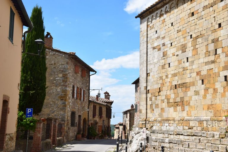 The historic and beautiful Tuscan Town of Cortona. A hilltop town in Italy.