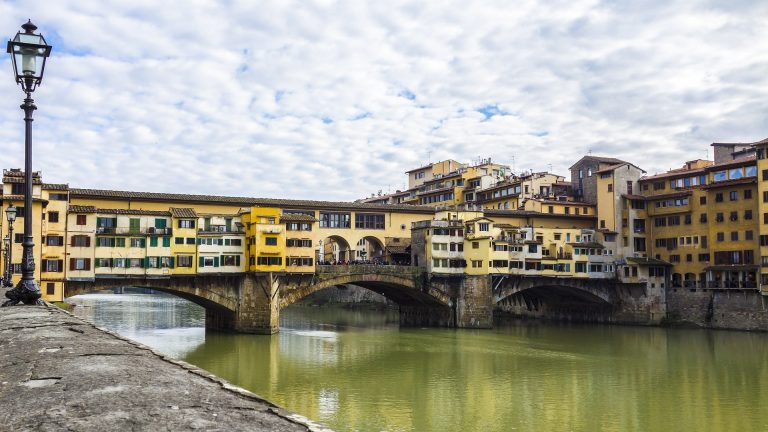 The oldest bridge in Florence, Pont Vecchio is a popular landmark while visiting Florence.