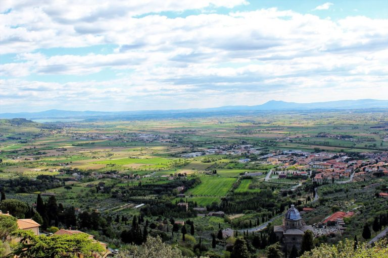Views from Cortona, is just one of the reasons why you need to visit this Tuscan Town