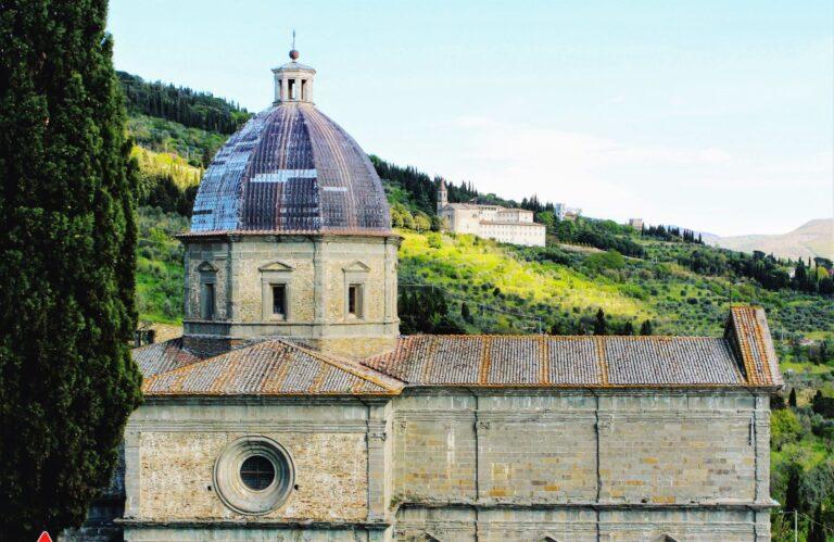 The Santa Maria del Calcinaio in Cortona Italy. This beautiful Renaissance church dates back to the 14th century.