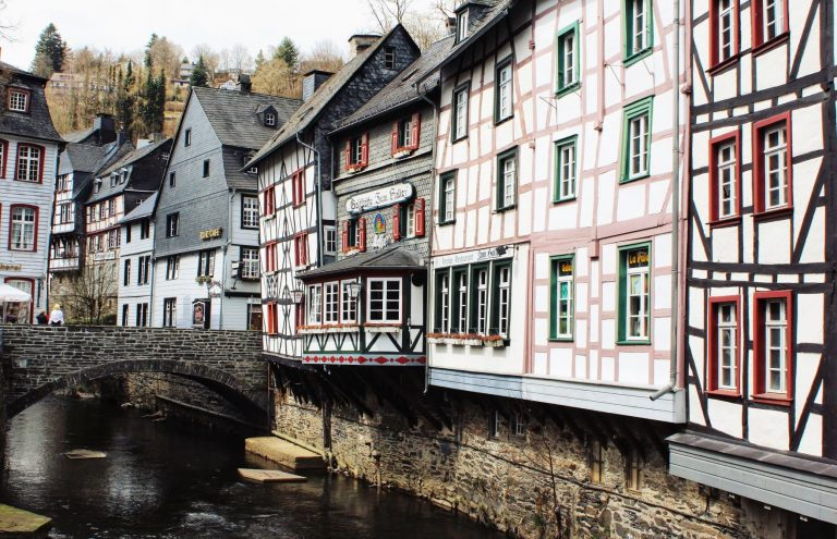 Monschau, Germany - a picturesque town that is steeped in history and charm. It lies in the Eifel region, only 2 km from the Belgium border.