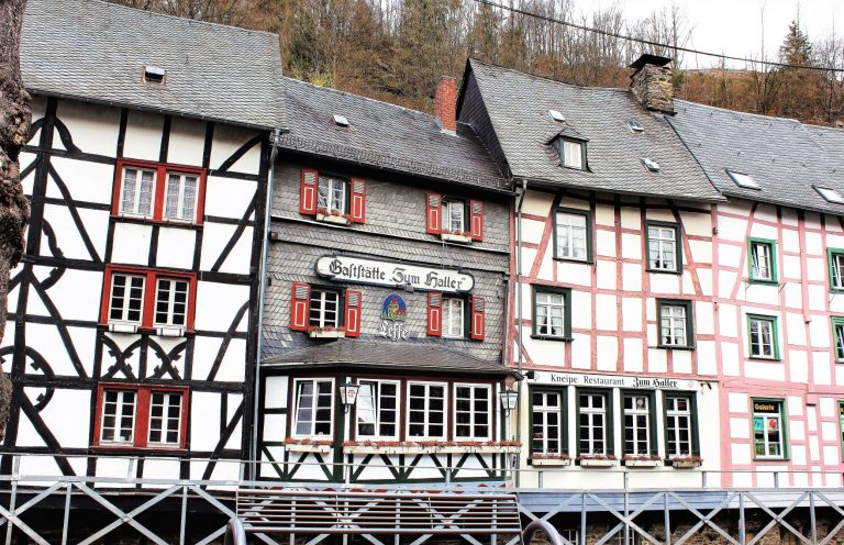 The impressive Altstadt of Monschau, Germany. A historic, charming and fairytale-esque setting.