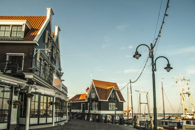 Volendam, a picturesque fishing village from the 17th century in Netherlands