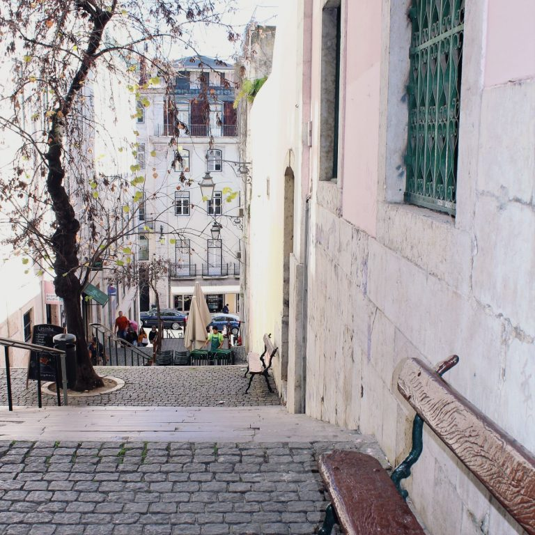 Check out some of the pretties streets found in one of the Coolest Neighbourhoods in Lisbon Portugal | www.DreamPlanExperience.com