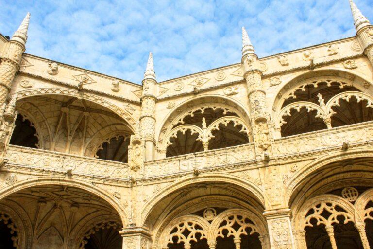 The lavishly beautiful Jeronimos Monastery in Lisbon. One of the Seven Wonders of Portugal